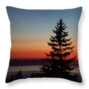 August Glow Pine Throw Pillow