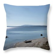 August High Noon Yellowstone Lake 02 Throw Pillow