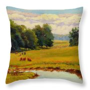 August Pastoral Throw Pillow