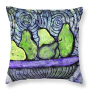 August Pears Throw Pillow
