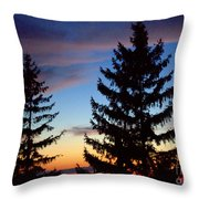 August Pine Clouds Throw Pillow