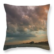 August Skies Over Ocean Isle Beach Throw Pillow