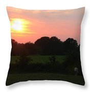 August Sunset Throw Pillow