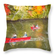 Augusta Canal Number One Throw Pillow