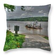 Historic Augusta Ferry. Throw Pillow