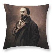 Auguste Vacquerie Throw Pillow
