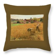 Augustin Lhermitte Throw Pillow