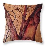 Mystical Tree Throw Pillow