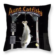 Aunt Catfish Throw Pillow
