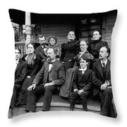 Aunt Deb, Emma, Uncle Lorin, Cousin Walter,  Charles And Leslie Throw Pillow