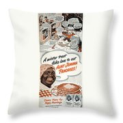 Aunt Jemima Ad, 1948 Throw Pillow by Granger