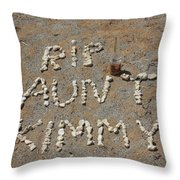 Aunt Kimmy Throw Pillow