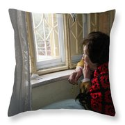 Aunt Leila - Watching Over The Neigbourhood Throw Pillow