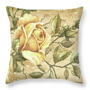 Aunt Marie's Roses Throw Pillow