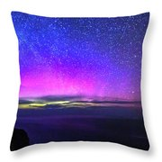Aurora At Ceide Fields Throw Pillow