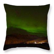 Aurora Borealis In Iceland Throw Pillow