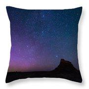 Aurora Borealis Over Lindisfarne Castle Throw Pillow