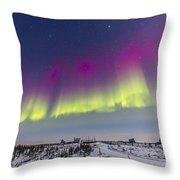 Aurora Borealis Seen From Churchill Throw Pillow