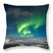 Aurora Borealis Throw Pillow by Susan Leonard