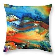 Aurora By Reina Cottier Throw Pillow