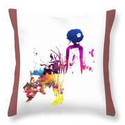 Aurora Flowers Throw Pillow