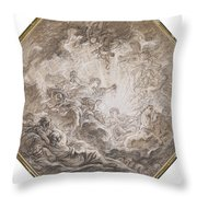 Aurora Heralding The Arrival Of The Morning Sun Throw Pillow