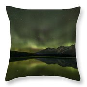Aurora Light Beams Throw Pillow