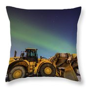 Aurora Machines Throw Pillow