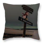 Aurora Nights In Kiruna Throw Pillow