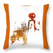 Aurora Orange Throw Pillow