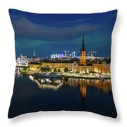 Aurora Over Stockholm In The Fall 2018 Throw Pillow