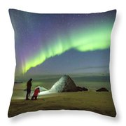 Aurora Photographers Throw Pillow