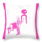 Aurora Pink Throw Pillow