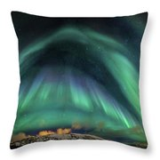 Aurora Umbrella Throw Pillow