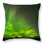 Aurora Wave Throw Pillow
