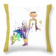 Aurora Yellow Throw Pillow