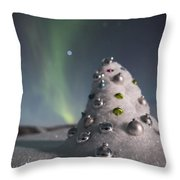 Auroral Christmas Tree Throw Pillow