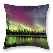 Auroras At The Mill Throw Pillow