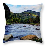 Ausable And Whiteface Throw Pillow