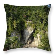 Ausable Chasm Throw Pillow