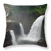 Ausable Chasm Waterfalls Throw Pillow