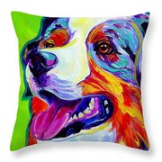 Aussie Throw Pillow by Alicia VanNoy Call