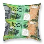 Aussie Dollars 09 Throw Pillow