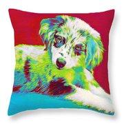 Aussie Puppy Throw Pillow