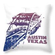 Austin 360 Bridge, Texas Throw Pillow