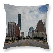 Austin From Congress Street Bridge Throw Pillow