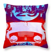 Austin Healey Bugeye Throw Pillow by Naxart Studio