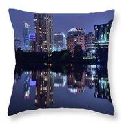Austin In Lady Bird Lake Throw Pillow