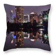 Austin Lights Up Lady Bird Lake Throw Pillow