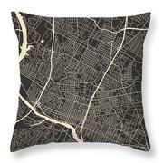Austin Map Throw Pillow